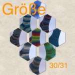 Rein von Hand gestrickte Socken in Gr. 30/31