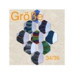 Rein von Hand gestrickte Socken in Gr. 34/35