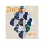 Rein von Hand gestrickte Socken in Gr. 46/47
