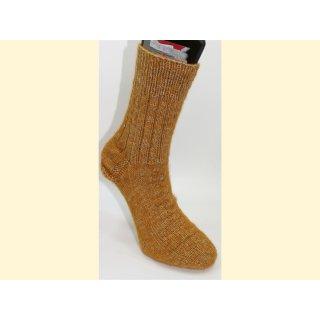 Premium handgestrickte Socken mit Alpaca Gr. 42/43 gold