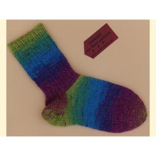 Surprise - handgestrickte Socken mit Glitzer - Gr 32/33