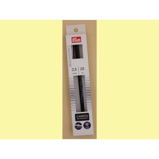 Prym Nadelspiel Ergonomics Carbon  20cm/2,5mm
