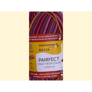 Regia paifect 4-fädig 7143 crazy red color