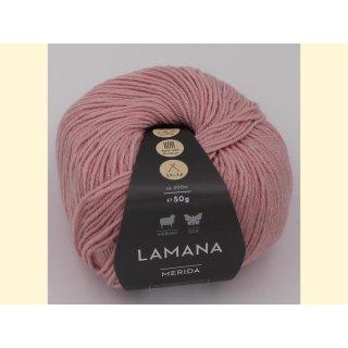 Lamana Merida 50gr Merino / Seide 40 rosa